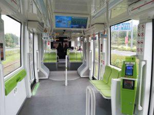 蘇州有軌電車の車両内部